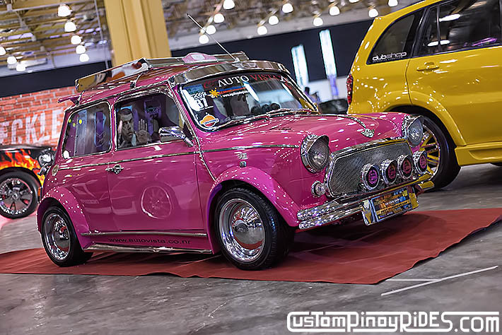 Raul Giles' Pink 1971 Mini Cooper by Team Auto Vista Hot Import Nights Custom Pinoy Rides Car Photography Philip Aragones pic1