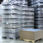 Marvatex Tier Sheets allow bottles and cans to be shipped in bulk instead of in cases.