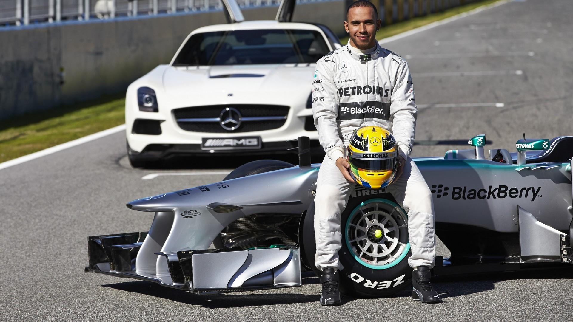 Mercedes W04 With Lewis Hamilton