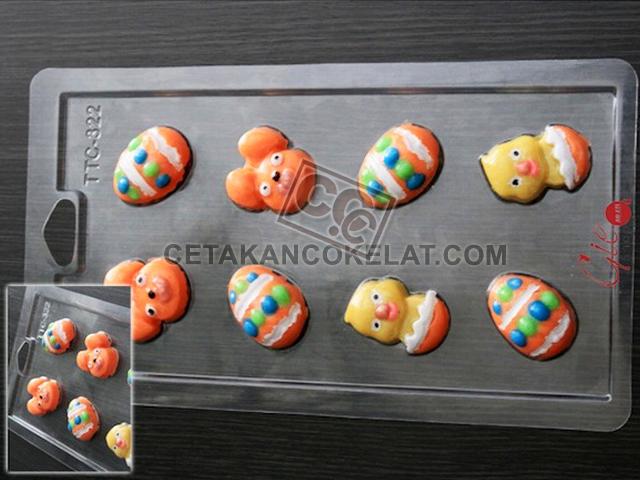 TTC322 cetakan coklat kelinci telur paskah easter
