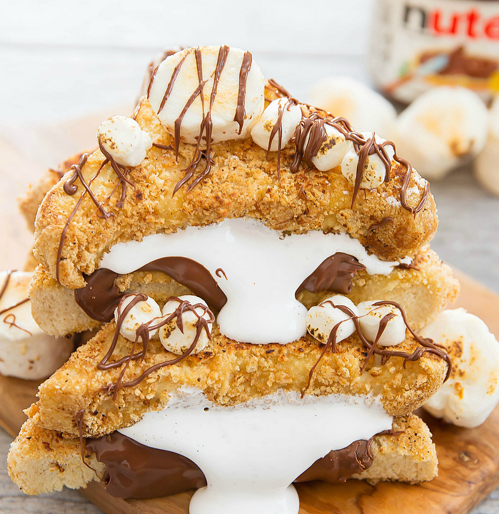 close-up photo of Nutella S'mores French Toast