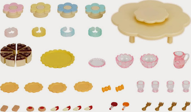 Toàn bộ các thành phần của bộ đồ chơi Bữa tiệc búp bê mẫu giáo Nursery Party Set