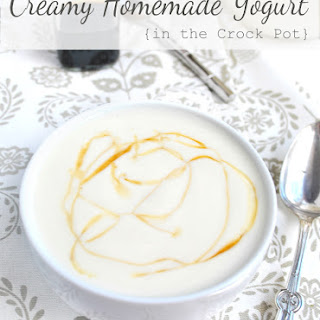 Creamy Homemade Yogurt in the Crock Pot {Plain or Vanilla}