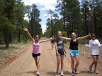 Paseo del Lobo Section 20 with the Bosque High School (Photo by the Bosque High School Cross Country Camp students)