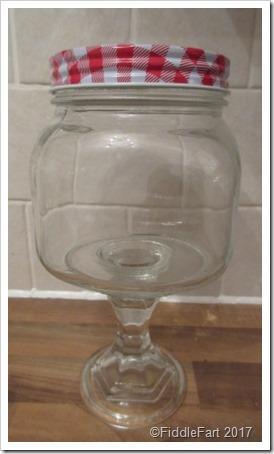 Home Bargains Stemmed Jar