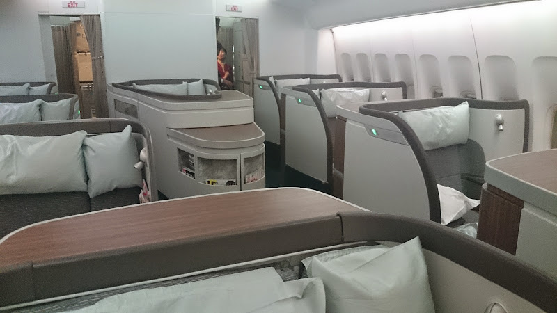 DSC 2983 - REVIEW - Cathay Pacific : First Class - Hong Kong to Tokyo (B747)