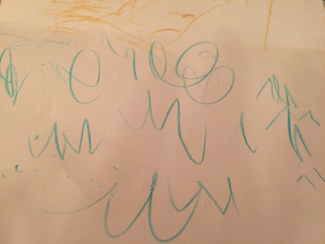 three year old writing