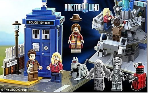Lego signs multi-million-pound deal with BBC to create Doctor Who sets.