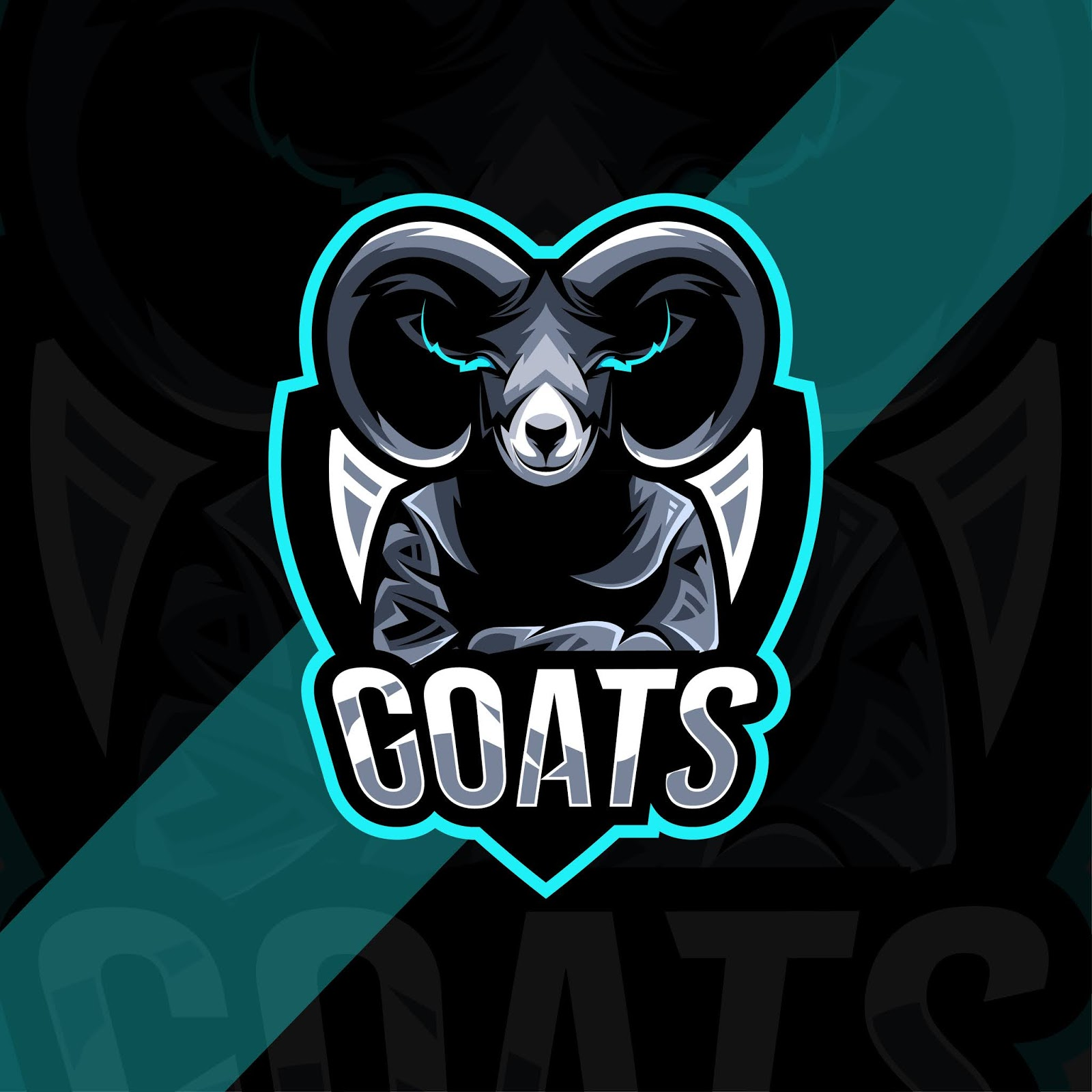 Goat Mascot Logo Template Design Free Download Vector CDR, AI, EPS and PNG Formats