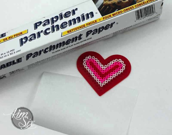 Parchment paper to release melted beads