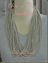 Shimering Strands Greygold necklace