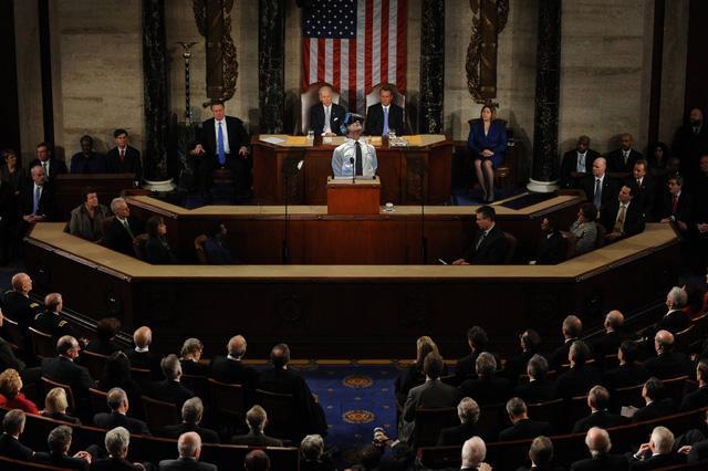 Tổng thống Obama đang giới thiệu kính thực tại ảo trước Quốc hội