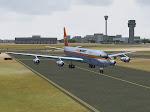 Aero Mexico DC-8 taxis at MMMX