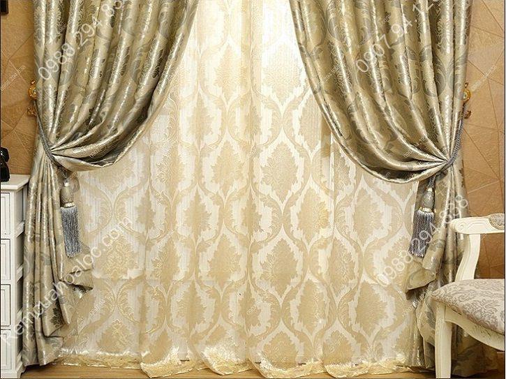Rèm cửa sổ hà nội họa tiết mờ ánh kim 14