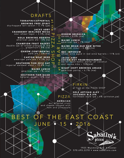 sabatini's best of the east coast event coming 6 15 mybeerbuzz com  beer firkin diagram #45