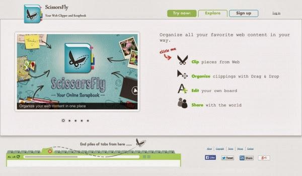 ScissorsFly: Crea una pizarra virtual con recortes web   Gustavo Martínez Blog´s