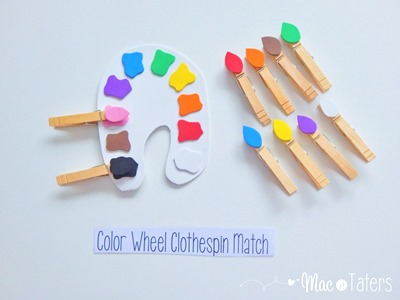 This color wheel clothespin match is the perfect busy bag for your toddler or preschooler to practice their fine motor skills and for learning colors.