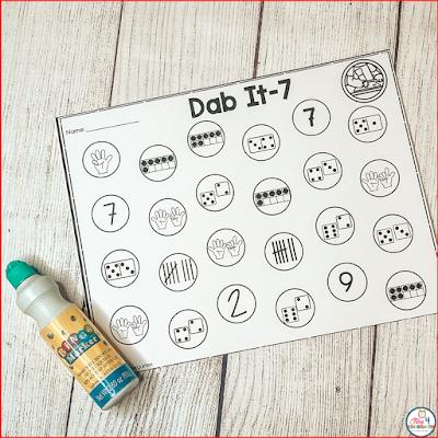 Dab it Math Game