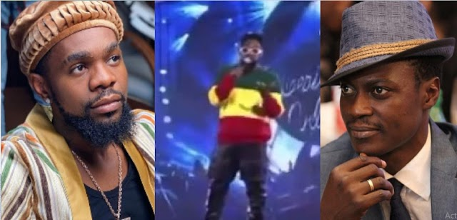 I Don't Know Why The Good Ones Have To Go – Patoranking Hold Tears as He Pays Tribute To Sound Sultan at an event (Video)