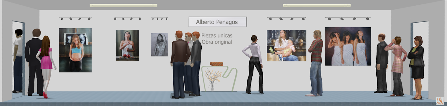 Sala de exposición virtual de pinturas de Alberto Penagos