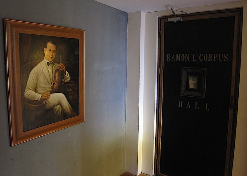 portraits of Ramon Corpus at the entrance to the Ramon Corpus Hall of Casa San Miguel in San Antonio, Zambales