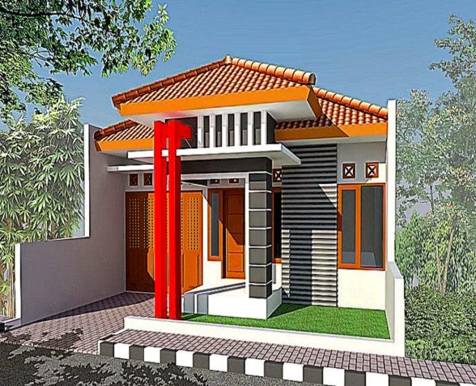 Desain Taman Rumah Di Kampung Gambar Model Desain Rumah Kampung