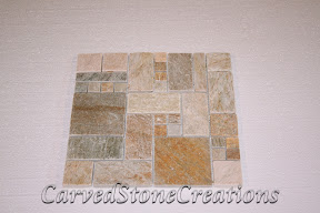 Flooring, Flooring & Mosaics, Interior, Mosaic, Natural, Pattern, Quartzite, Serengeti Gold, Square, Stone, Tile