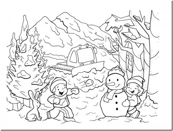 dibujos invierno para colorear