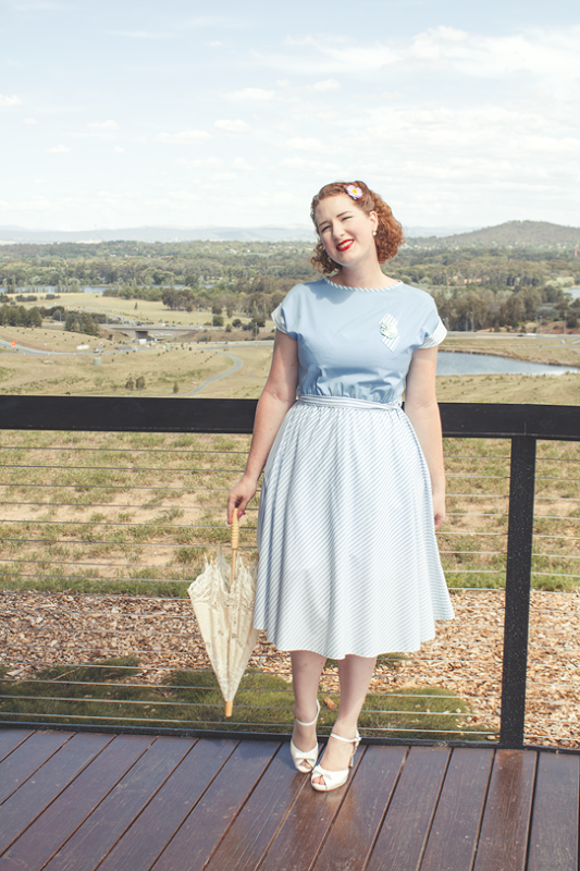 Simple 1950's summer outfit for a busy mama | Lavender & Twill