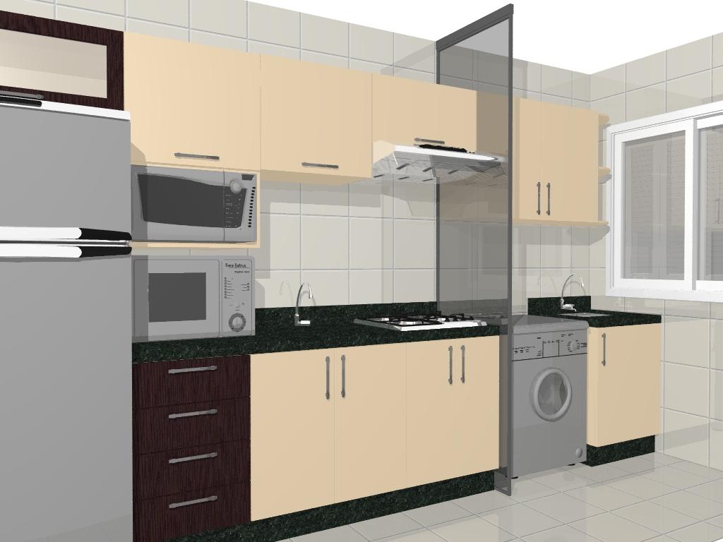Móveis: Cozinha Compacta Projeto Apartamento #876D45 1024 768