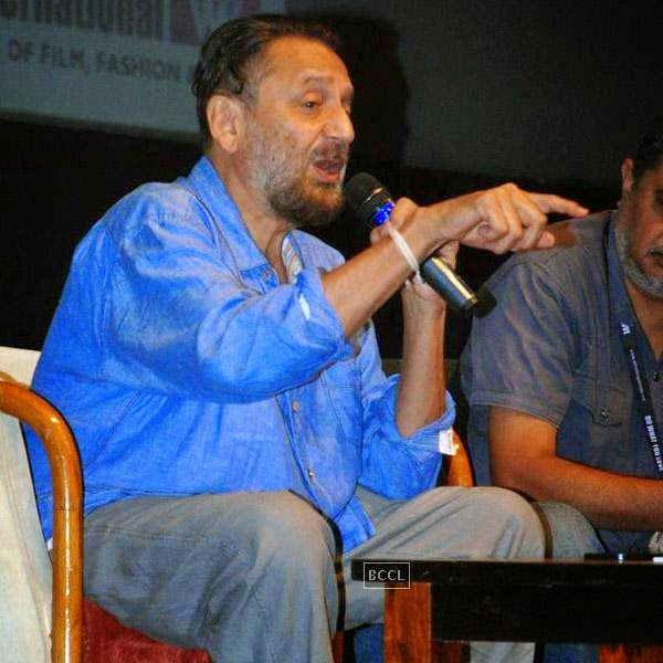 Shekar Kapur speaks during Whistling Woods International Institute's graduation ceremony, held on July 28, 2014.(Pic: Viral Bhayani)