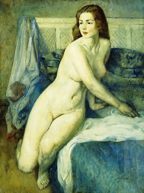 Leon Kroll - Nude in a Blue Interior, 1919