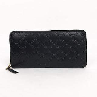 Comme des Garçons Leather Clover Embossed Wallet