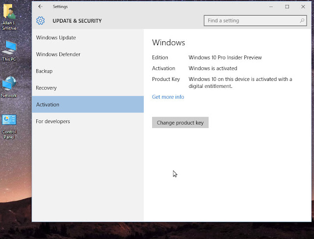 Windows 10 Digital Entitlement