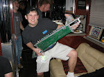 """Pone would rock the keytar...Everybody sings """"I'm In A Hurry"""" by Alabama behind him"""