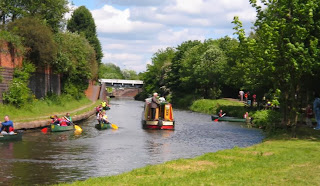 2a - Canoeing Past A Narrowboat