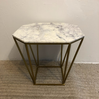Bloomingville Marble-Top Accent Table