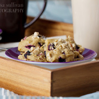 Blueberry Crumb Muffin Cookies.