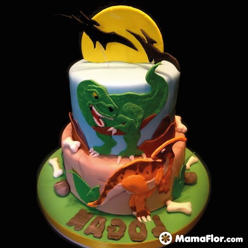 pastel de dinosaurios - 15