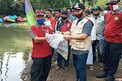 10.000 Benih Ikan Nileum ditebar disungai Cikadondong