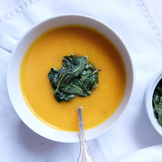 Carrot Soup & Pan-fried Mint