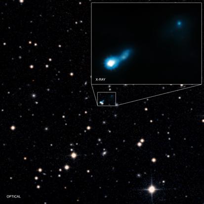 jato de um buraco negro distante