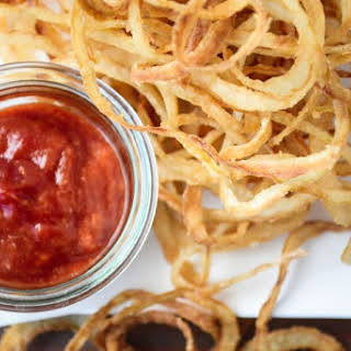 Vidalia Onion Strings with Horseradish Ketchup.