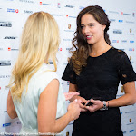 STUTTGART, GERMANY - APRIL 18 : Angelique Kerber & Ana Ivanovic at the 2016 Porsche Tennis Grand Prix players party