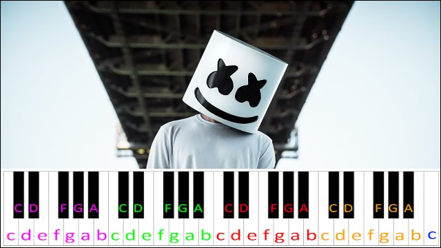 Alone by Marshmello ~ Piano Letter Notes