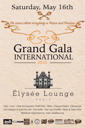 Grand gala international - Grand Gala international @L'Elysée lounge PARIS