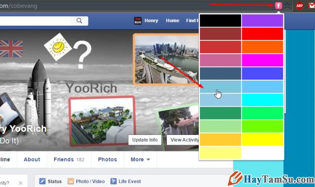 đổi giao diện facebook thành công