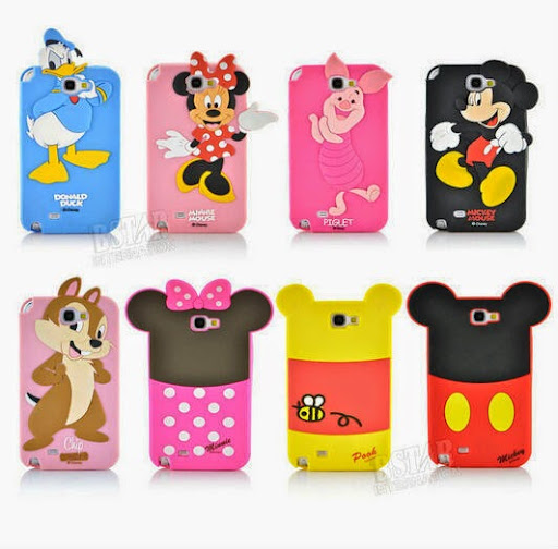 3D Cartoon duck mickey minnie mouse bear piglet chip po