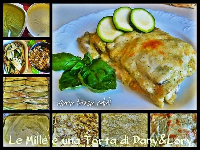 lasagna con zucchine e pesto di zucchine - con il bimby