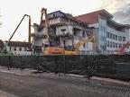 Reste der alten und Teile der neuen Volksbank Marktplatz 1 in Osterholz-Scharmbeck (Jan 2015)